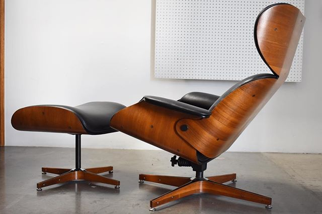 Stay tuned as two versions of the Mr. chair will be up for restoration and available early 2019 along with a new shop name/location! This Plycraft lounge chair and ottoman is a restoration highlight from earlier this year. It arrived in serious need of restoration, large sections of veneer were damaged, upholstery was tattered and the mechanism needed work. The customer that purchased it saw the potential and selected a beautiful dover leather to accent the restored walnut shells. After extensive veneer repair to the base and lower shell, all parts were cleaned and the wood was hand rubbed with an oil finish. Swipe to the final slides to see how it arrived. This has to be one of my favorite lounge chair designs from Plycraft. #mrchair #restoration #refinishing #woodworking #georgemulhauser #mulhauser #georgemulhauserforplycraft #plycraft #plycraftmrchair #1950s #1960s #1970s #vintagemodern #vintagedesign #midcenturyloungechair #midcentury #midcenturymodern