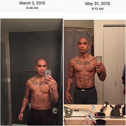 And if you don't think change can happen fast, look at the dates of the two photos from when i decided to change in 2015.. 3 months apart, something like 25 pounds lost.