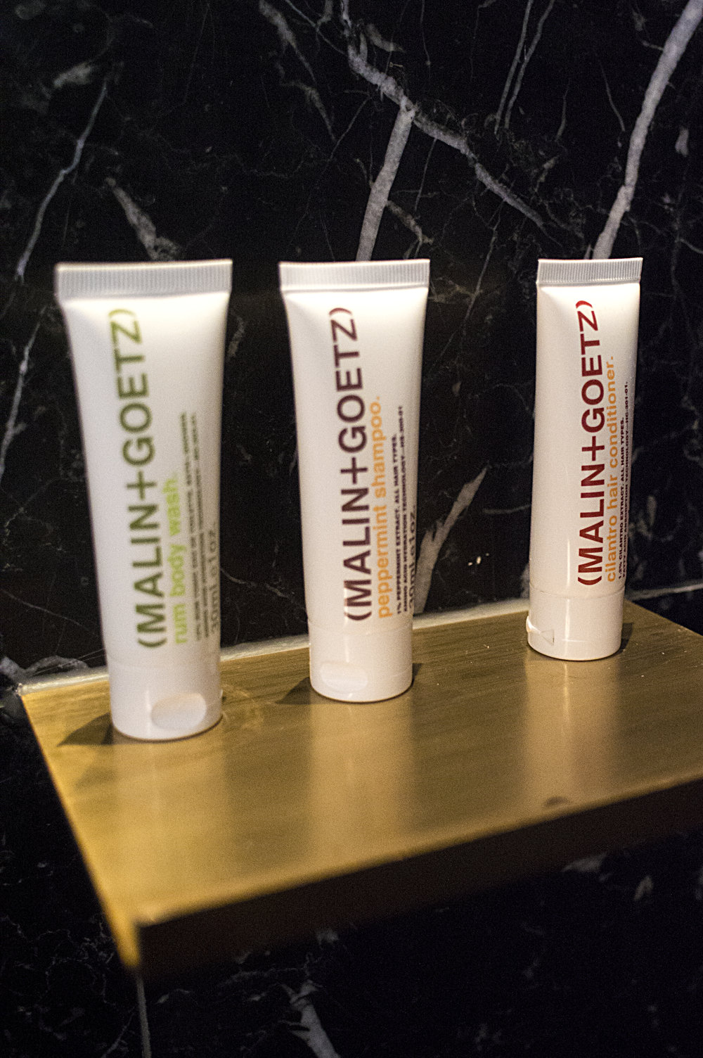 Each bathroom comes with these lovely Malin + Goetz products, which are absolutely heavenly.