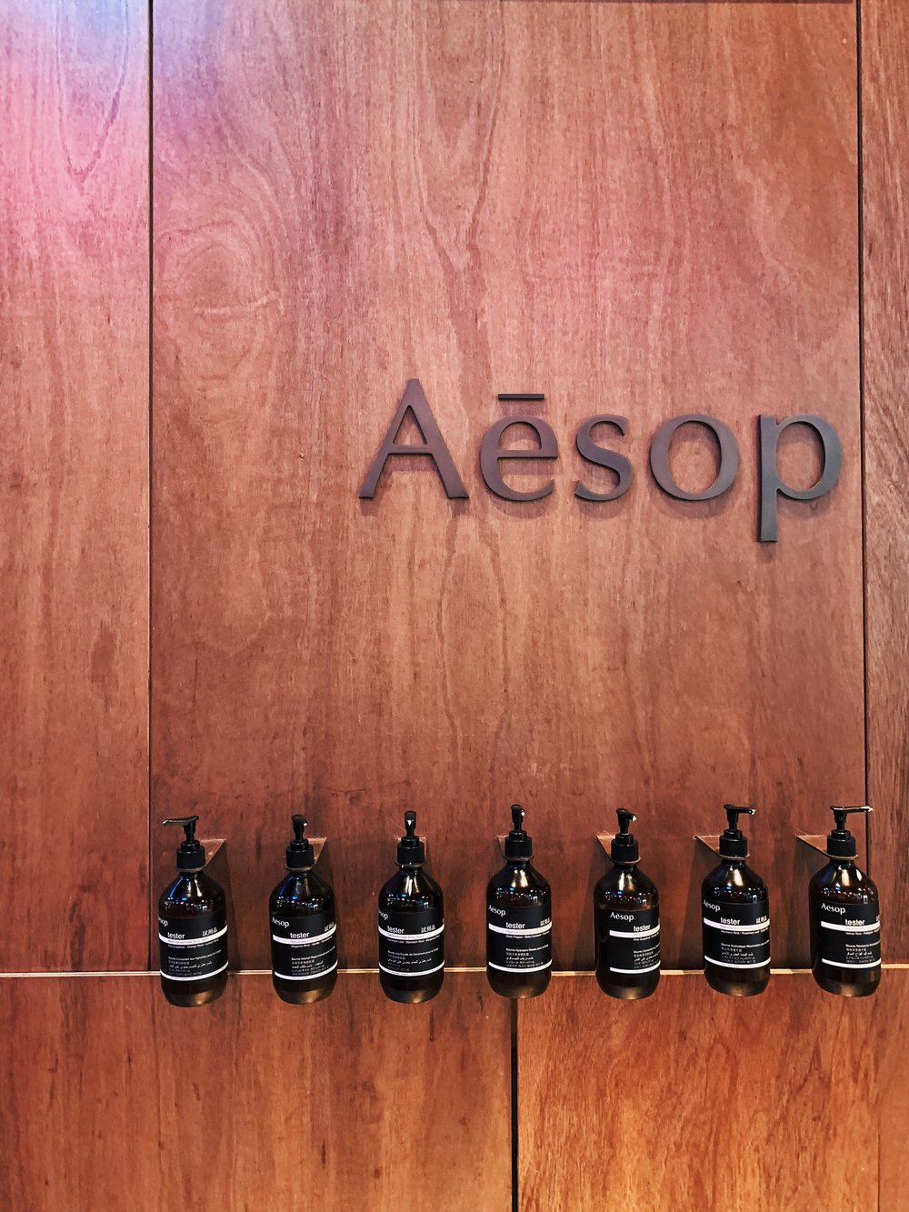I couldn't help but take little photos of the Aesop stores! Each one is so unique, and I adore the designs of each store.