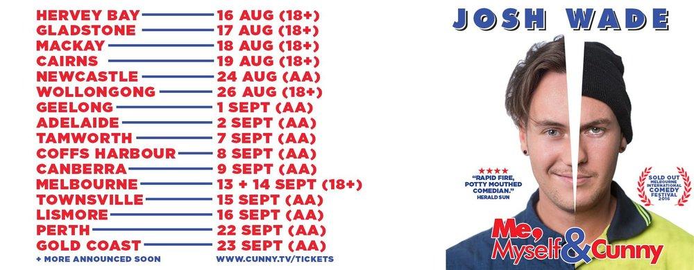 Tour & Production Management; August/September 2017