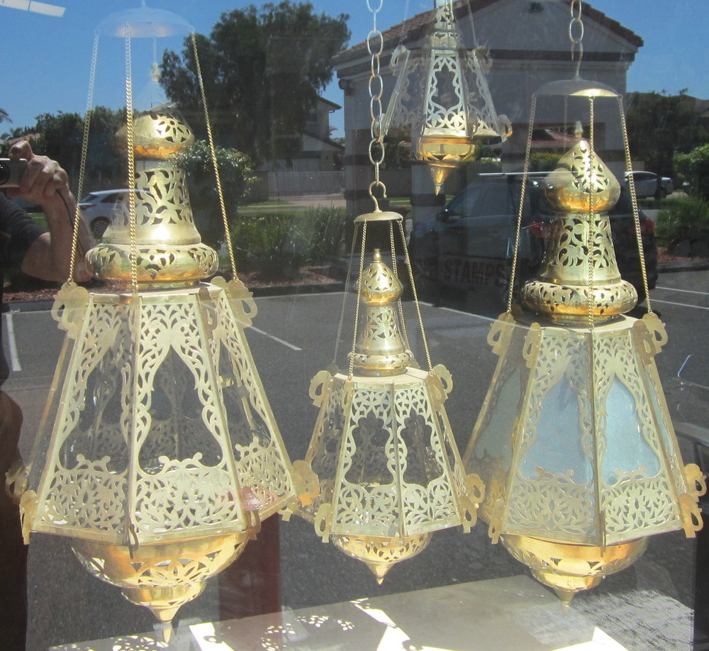 MOROCCAN STYLE BRASS LAMPS