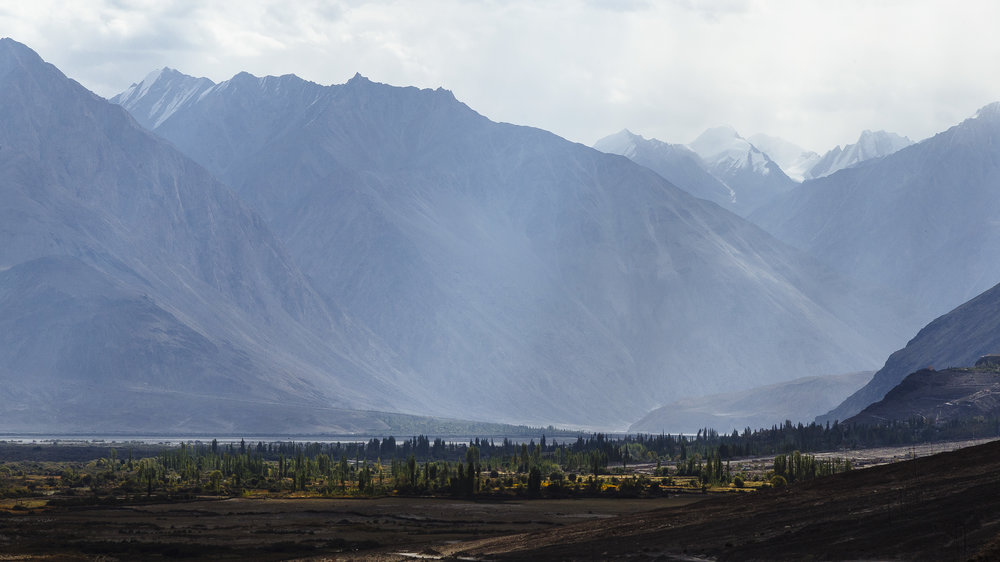 High mountains of Nubra Valley