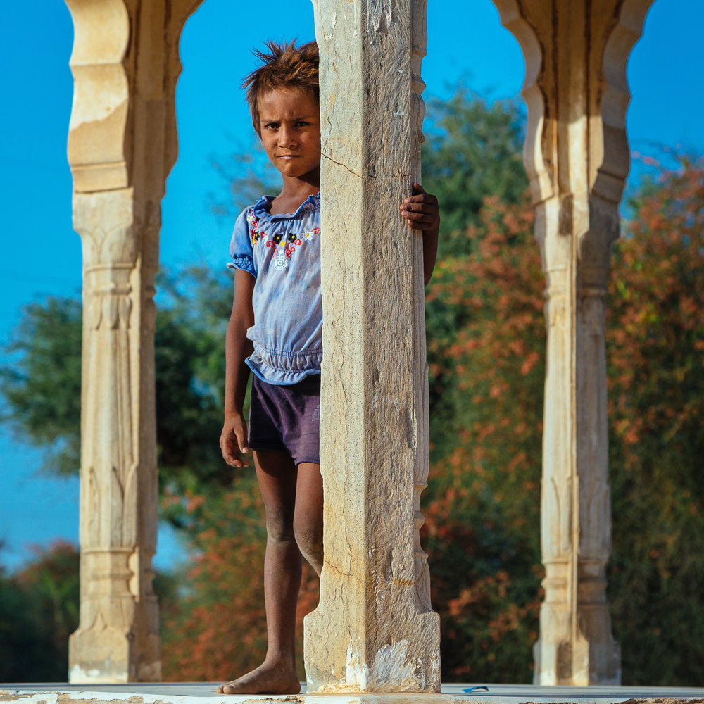 A gypsy child in Rural Rajasthan - India
