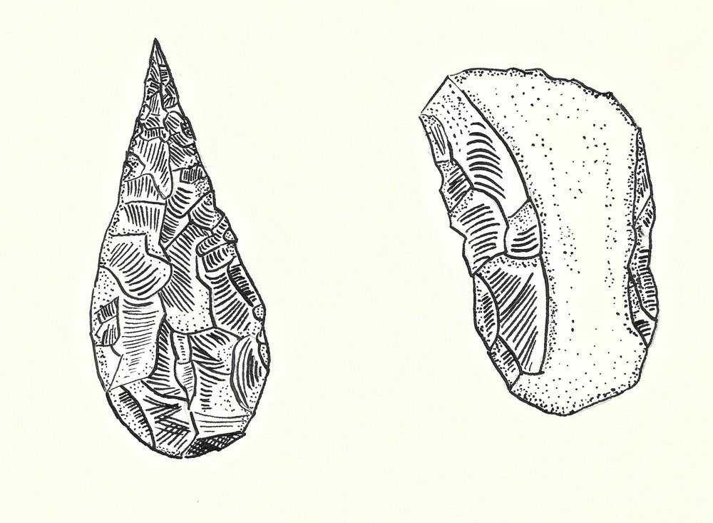Copy of Copy of Handaxes and cleavers, palaeolithic man's Swiss Army knives.