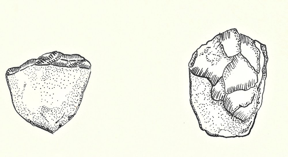 Some of the oldest stone artifacts, crude stone tools, were found in the Olduvai gorge in Tanzania.