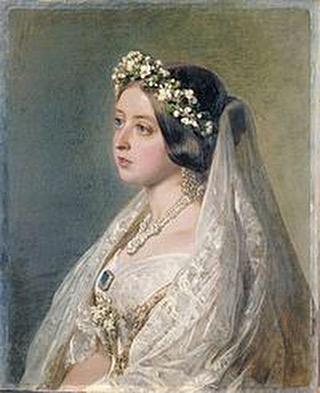 Queen Victoria in her white wedding dress. #episode4