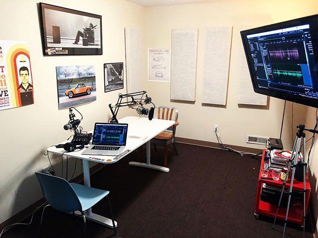 A peek into the studio.