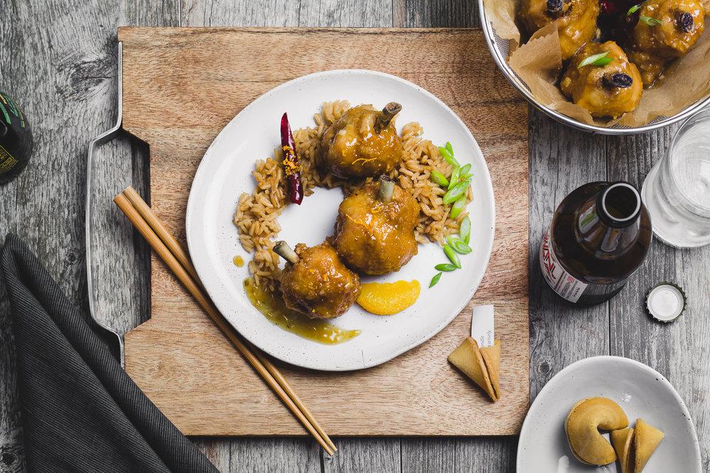 EZ WINGS Chinese Orange Chicken Drum Lollies