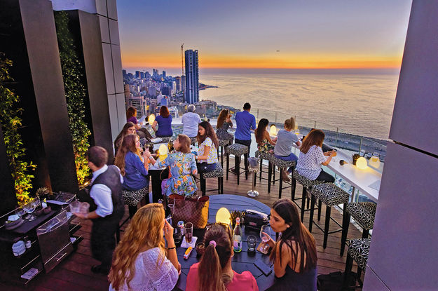 Le bar The Roof, de l'hôtel Four Seasons.ERIC MARTIN