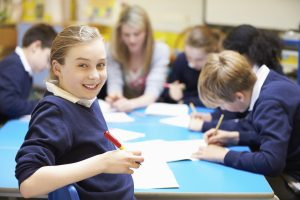 Year 6 pupils in classroom