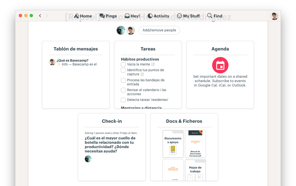 La plataforma de e-Coaching