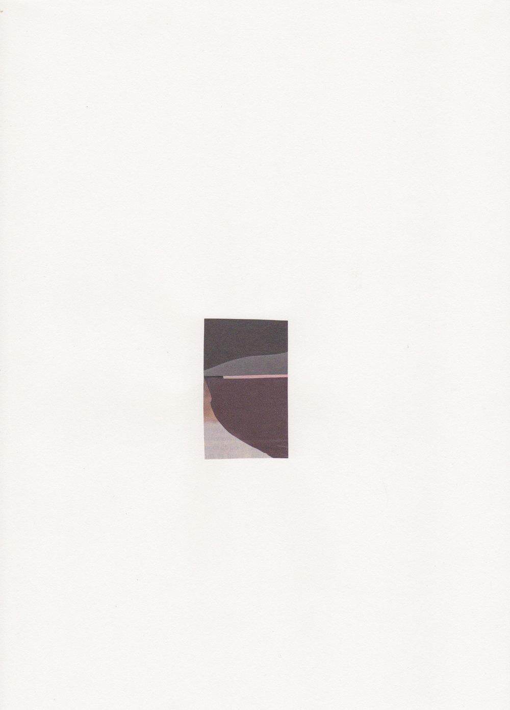La ballade de Jim - Assemblage sur papier velin -Collage 5,7 x 3,4 cm -2018