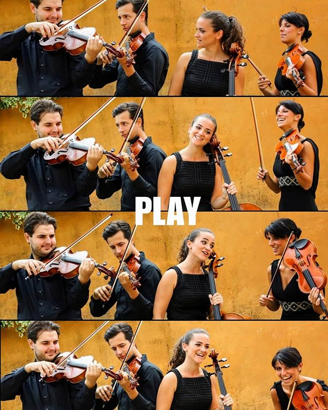 Mood of the day! Play the music, play for fun!! #quartettoguadagnini #moodoftheday #play #suonare #giocare #divertirsi #stringquartet #music #four #smile