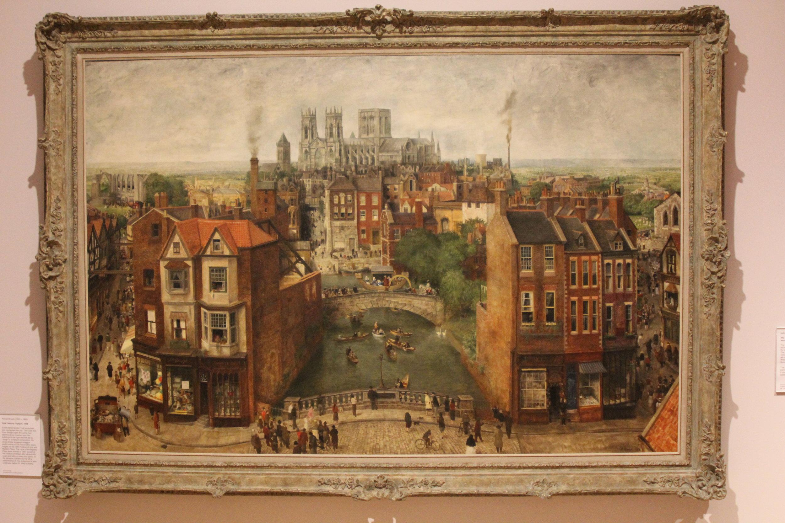A painting of York's bridges