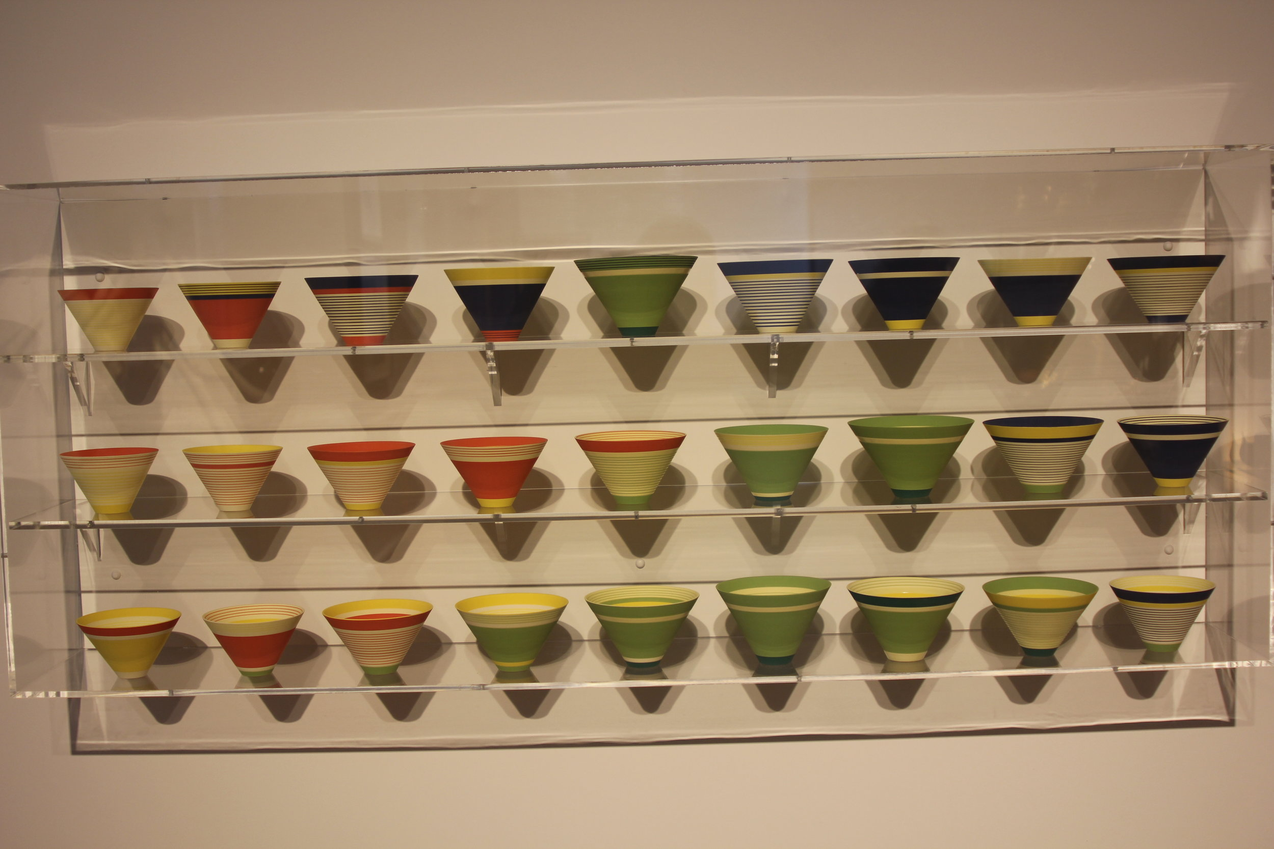 colourful pots on display
