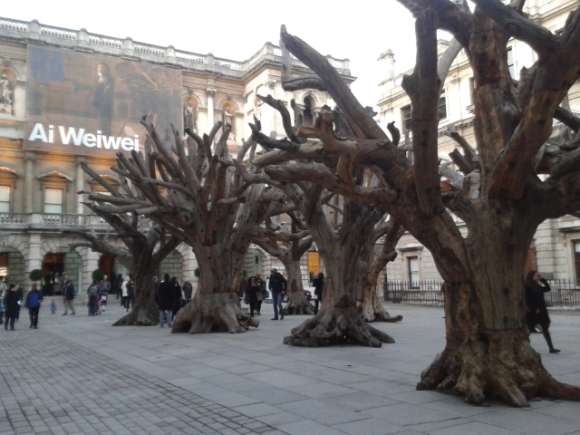 Arriving at the Ai Weiwei exhibition at the Royal Academy