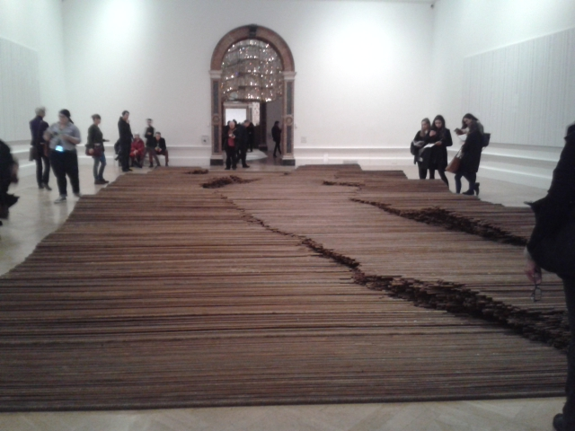 Ai Weiwei's rebars from the 2008 Sechuan earthquake