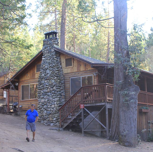 A cabin in the woods ~ The Redwoods, Wawona, our home for a few nights while we were in Yosemite ~ with Mr B nipping our for his copy of The Fresno Bee newspaper from the village store... . #wawona #yosemite #yosemitenationalpark #california #theredwoodsinyosemite