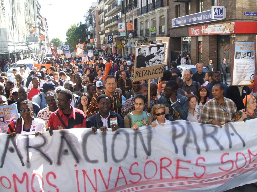 Marcha por las Reparaciones de 12006 EH (2006) organizada por Federación Panafricanista