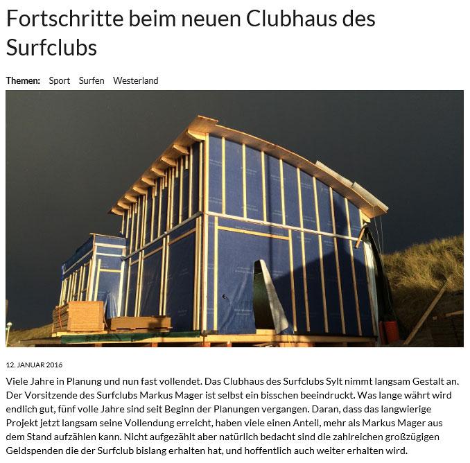 Hier gehts zur Bildergalerie - Der Bau des Clubhauses in seinen einzelnen Bauphasen!