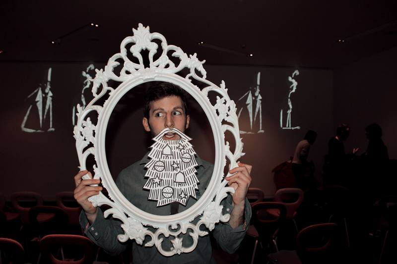 Beakus - 'Beard Frame' at Publicis launch of Tuft Commercial