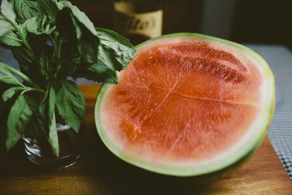 Watermelon Basil Lime Cocktail