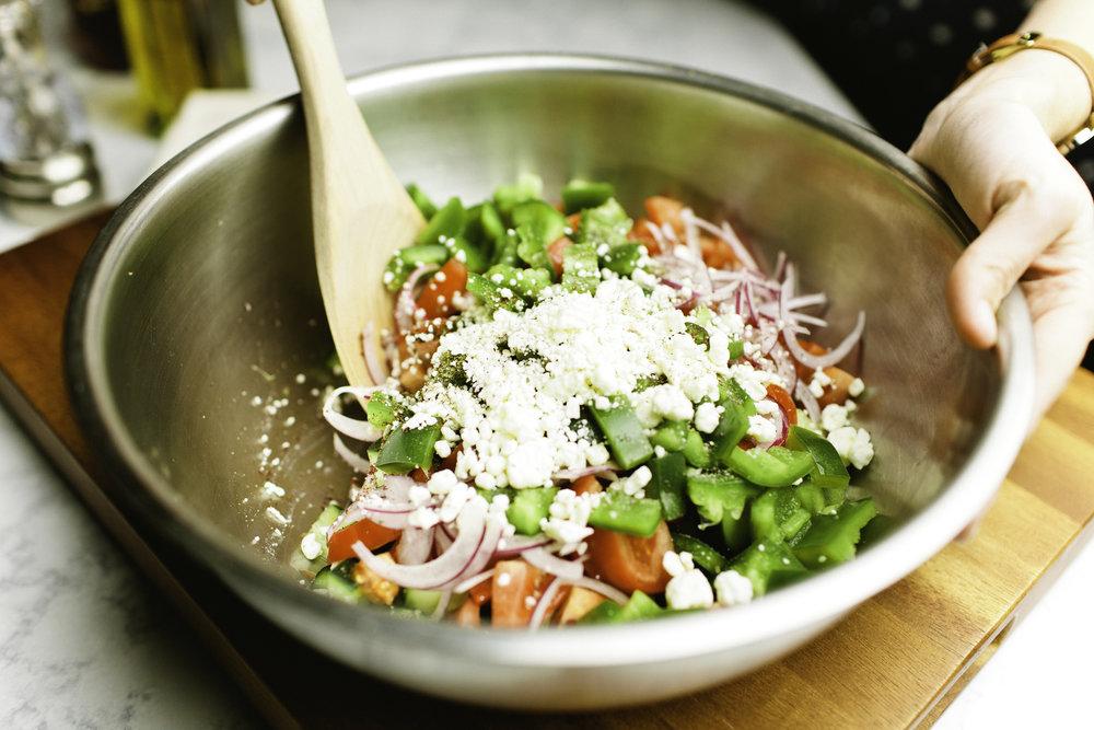Cucumber, Tomato & Red Onion Salad