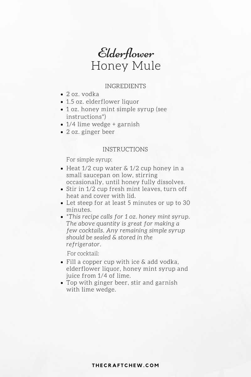 Elderflower Honey Mule