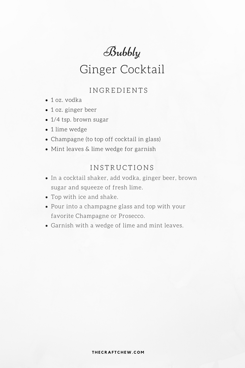 Bubbly Ginger Cocktail