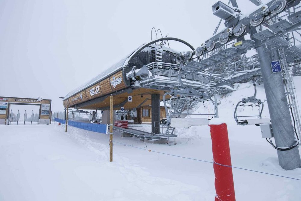 Courchevel's Biollay Lift open 3 weeks before the official start to the season