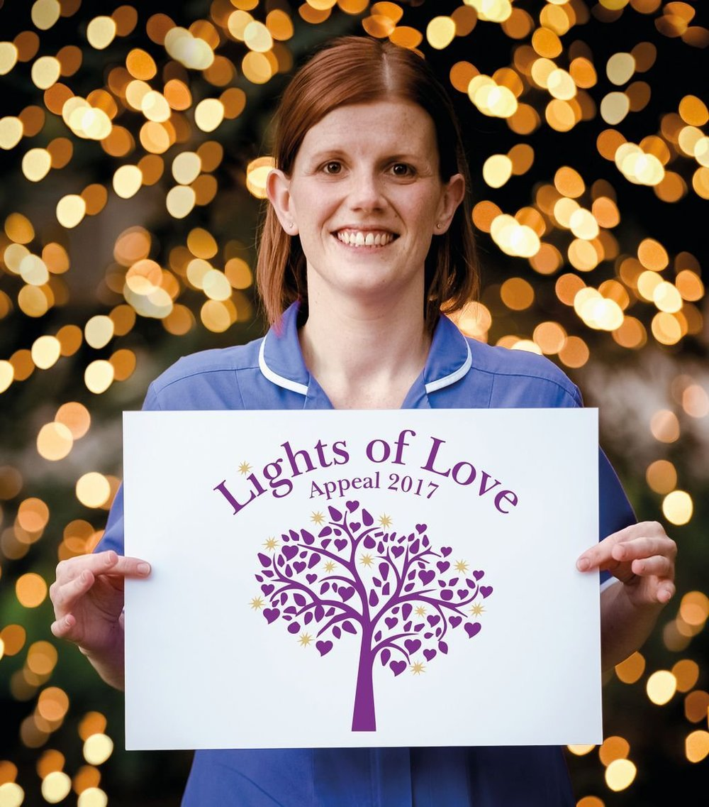 Lights of Love Appeal 2017, photographed by Matthew Walker at The Standout Company.  This image was used in printed and online advertising.