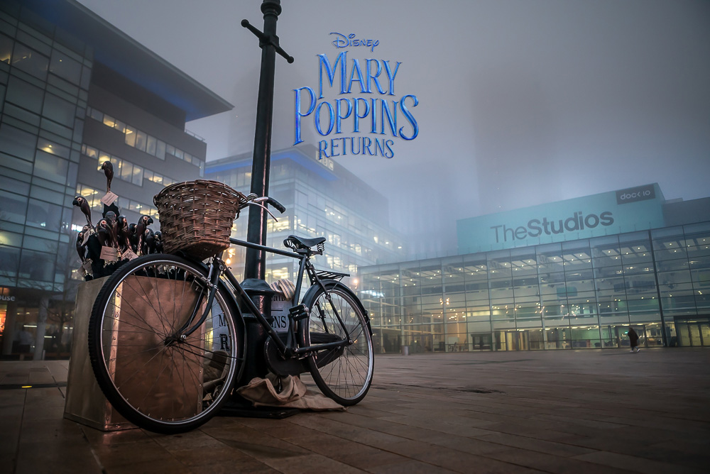 Publicity shot for   Mary Poppins Returns   @   Media City, Manchester