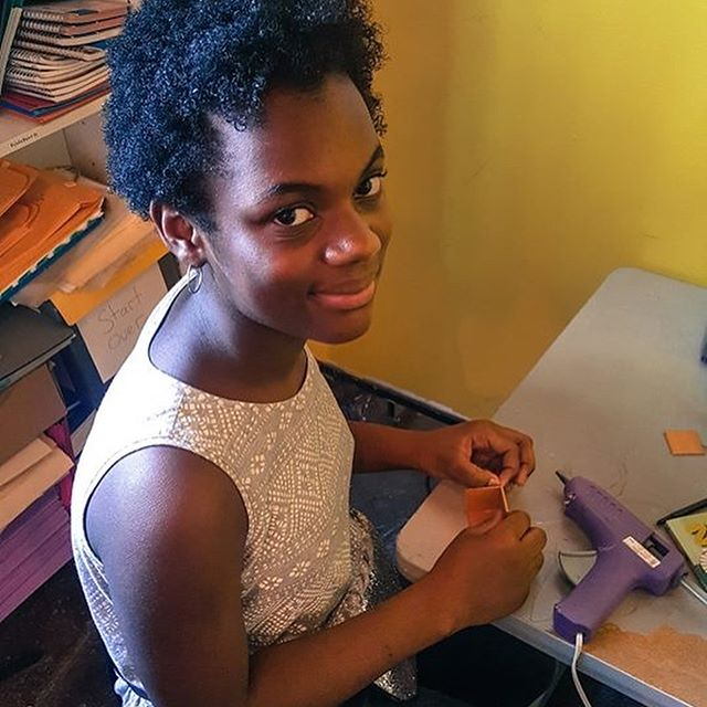 "This week's Summer Student Highlight is Lyric... ""This is my first Summer here at Behailu. My favorite thing so far is the Make Your Own Journal class. The theme of my journal is not knowing what I'm doing but to do whatever feels right to me. I love to draw and I am very excited for the rowing team!"" #BehailuSummerCamp #StrengthOvercameObstacles"
