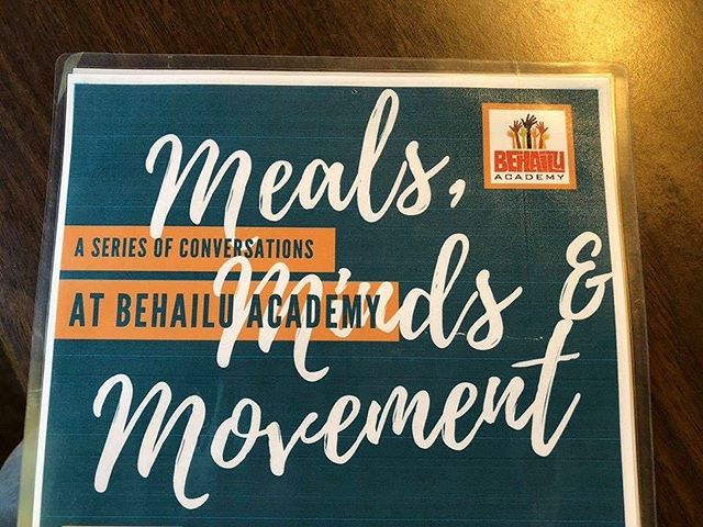 Join us on this Wednesday, October 17th from 6:00pm - 8:00pm at the Behailu Academy for our next session of Meals, Minds, and Movement!  Topic: Is My Political System a Mirror or a Wall? We have the pleasure of Charlotte City Council District 1 Representative, Larken Egleston as our guest speaker.  #BehailuAcademy #StrengthOvercameObstacles