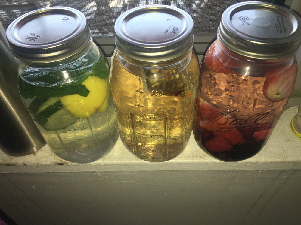 Naturally Alkaline Water * Mighty Leaf Tea * Raspberry Strawberry Watermelon Blueberry Infused Water