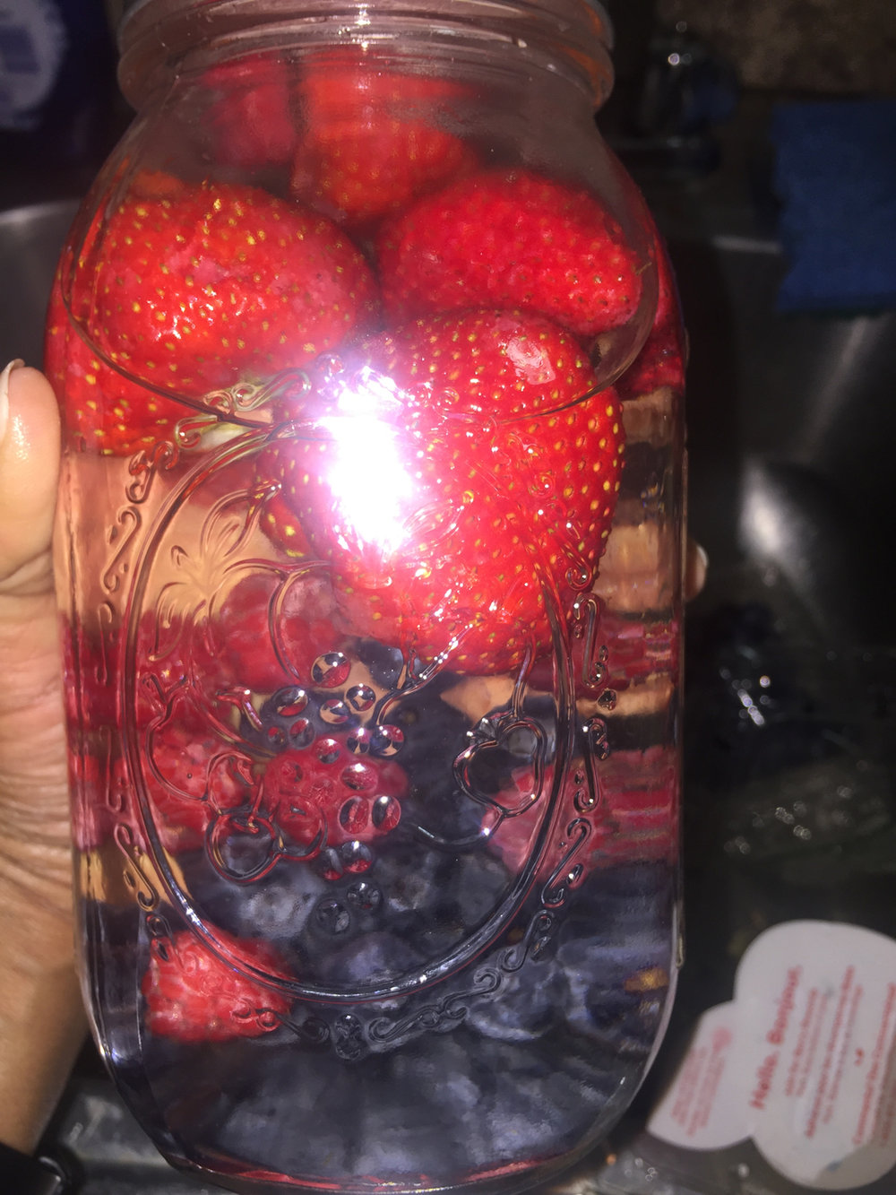 Strawberry Raspberry & Blueberry Infused Water