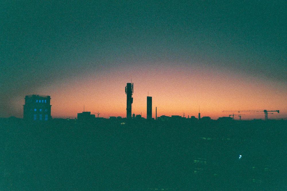 Sunset over Munich
