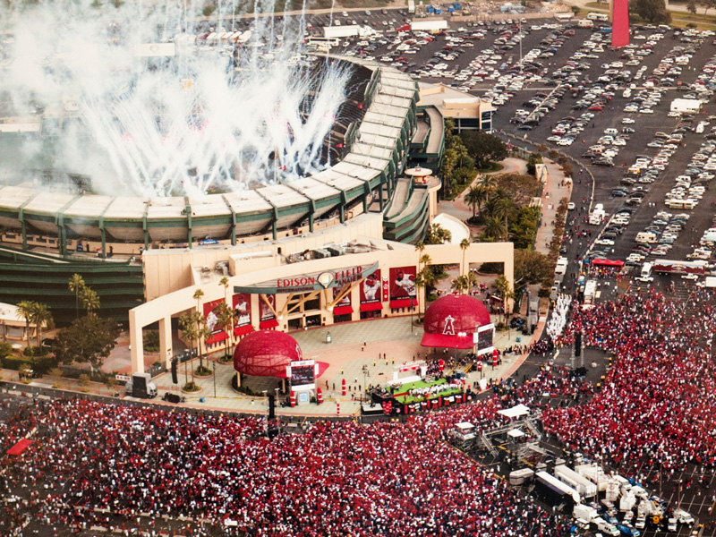 MLB Anaheim Angels World Series victory celebrations -