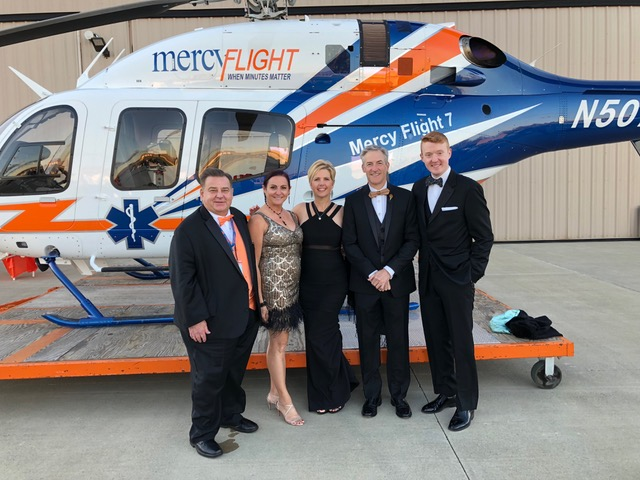 Mercy Flight fundraising gala with Charles Lindbergh grandson Erik, and American Idol - John Stevens -