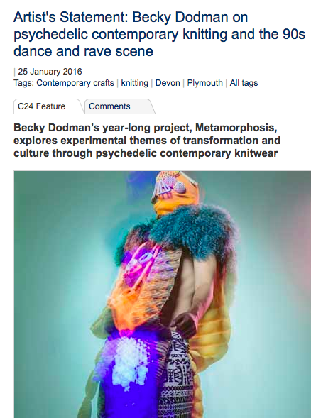 Culture 24. Jan 25 2017 http://www.culture24.org.uk/art/ceramics-and-craft/art545640-becky-dodman-knitting-plymouth-college-rave