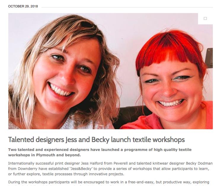 www.jessandbecky.com  - http://cornerstonevision.com/talented-designers-jess-becky-launch-textile-workshops/