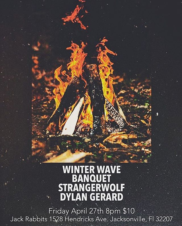 THIS FRIDAY!!! I'll be opening for @winterwaveband , @banquetband , and @strangerwolfmusic at Jack Rabbits. Come out and hear some of the songs that will be on this upcoming E.P. we're funding (gofundme link in bio). Tickets are $8 presale. I go on at 8:30.  #dylangerard #strangerwolf #winterwave #banquet #livemusic #jivemusic #thriveonmusic #strivemusic #beehivemusic #archivemusic #skydivemusic #dontdeprivemusic #survivemusic #drivemusic #revivemusic #alivemusic  #chivemusic #fivemusic #isthereanymore #ive #music ? #thevoicehasbeen #originals #jackrabbits #campfires #igersjax #jaxmusic #jaxmusicscene #jaxmusicians