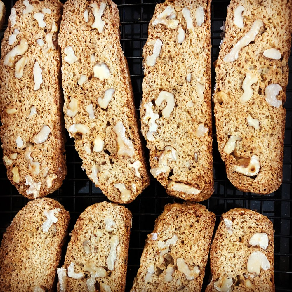 Biscotti does not always need to accompany an espresso or a hot cup of tea. This savory variation is just right to serve with your favorite soup.