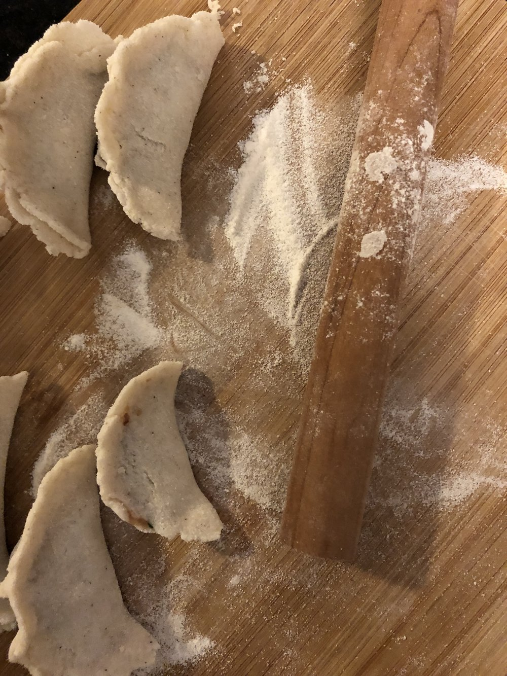 reserve some flour mixture to keep the dough from sticking to your board