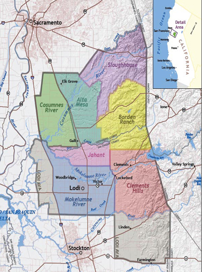Map courtesy of Lodi Woodbridge Winegrape Commission