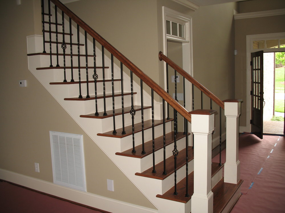 Basket, Twist And Tall Scroll Iron Balusters