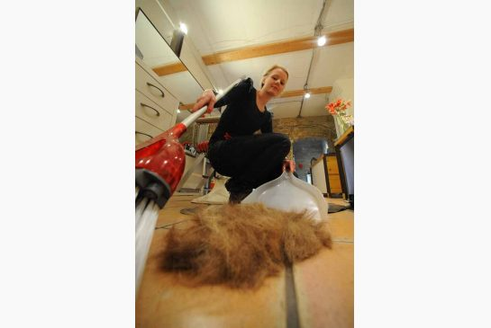 Eco-friendly salon owner June Croken would always put the hair she snipped from clients into the compost – until she read that the City of Toronto doesn't accept hair in the Green Bin organics program. Photo: Colin McConnell / Toronto Star