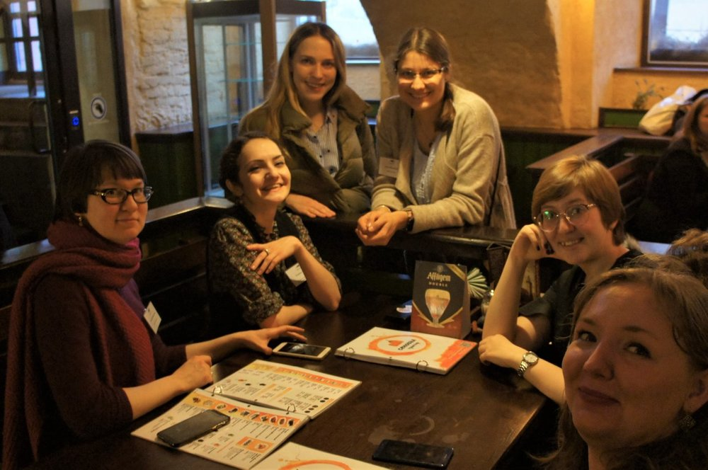 """#drinkingaboutmuseums in St Petersburg during """"Museum PR"""" seminar, March 28th, 2019. © Marina Panova"""