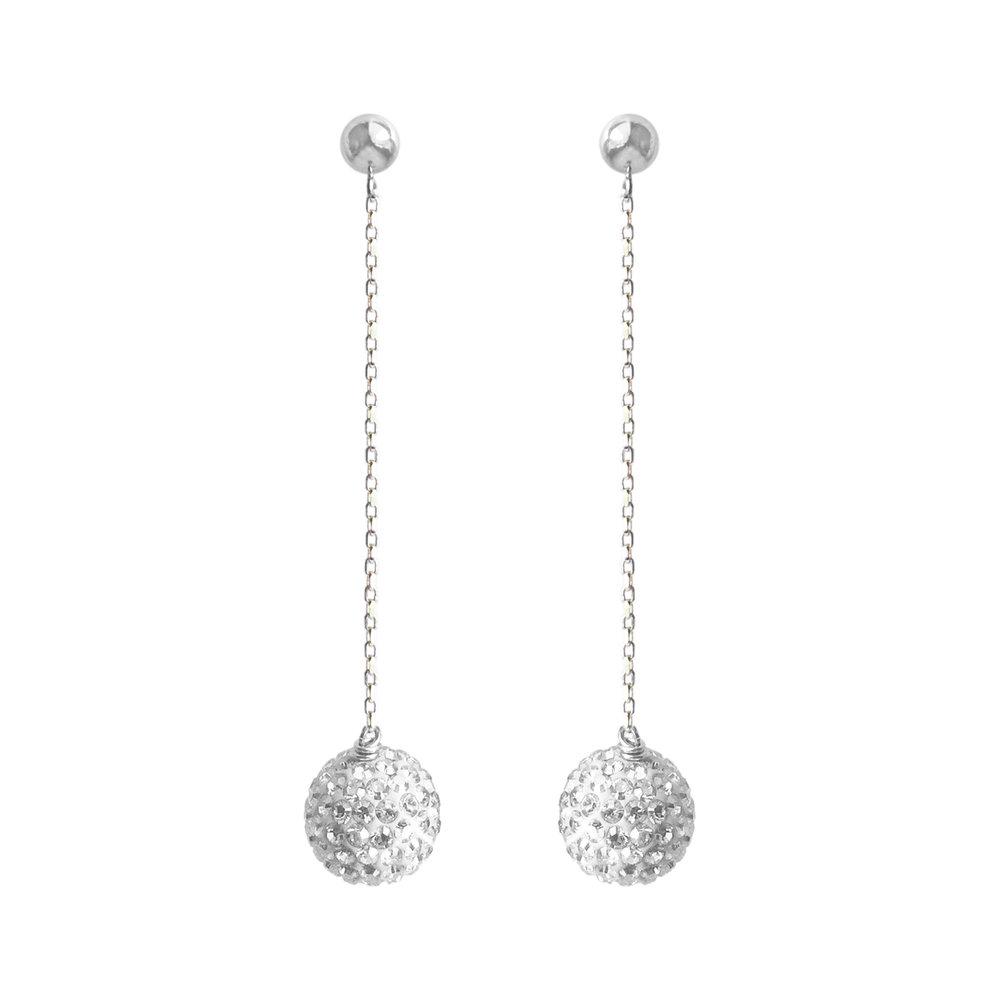 824cd391d Ball Drop Earrings - Silver — Ultra Bella